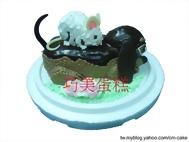 老鼠+臘腸狗造型蛋糕