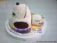 史奴比全身立體造型蛋糕