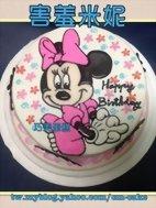 害羞米妮造型蛋糕