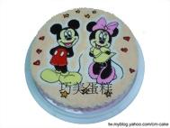 米奇和米妮造型蛋糕