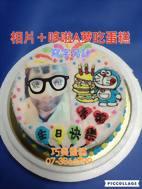 相片+哆啦A夢吃蛋糕