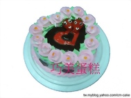 情人節玫瑰心型造型蛋糕
