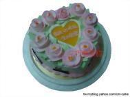心型玫瑰造型蛋糕