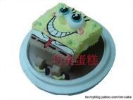 海綿寶寶俏皮造型蛋糕