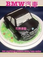 BMW黑色汽車造型蛋糕