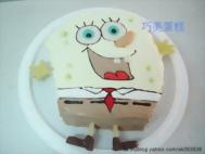 海綿寶寶造型蛋糕-3
