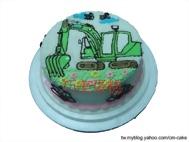 怪手(平面)造型蛋糕