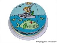 釣大魚造型蛋糕