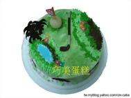 高爾夫球果嶺造型蛋糕