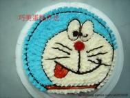 多啦A夢(平面頭)造型蛋糕