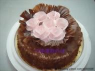 玫瑰黑森林蛋糕
