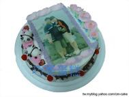 情人數位生日相片蛋糕