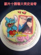 相片+開懷大笑史迪奇造型蛋糕