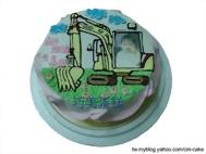 相片+怪手平面造型蛋糕