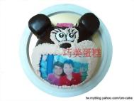 相片+米妮(頭)造型蛋糕