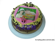 相片+戒指造型(求婚)蛋糕