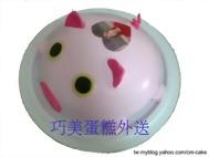 粉紅豬造型+相片蛋糕