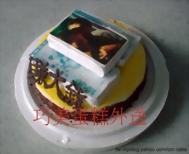 賺大錢造型相片蛋糕