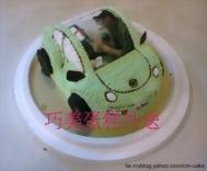 金龜車造型+相片蛋糕