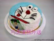 小叮噹造型相片蛋糕