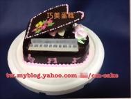 黑色鋼琴造型蛋糕