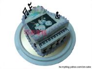 鋼琴造型+相片蛋糕