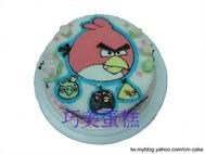 憤怒鳥與他的朋友造型蛋糕