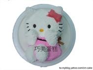開心的KITTY全身立體造型蛋糕