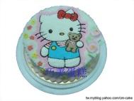 KITTY抱熊造型蛋糕