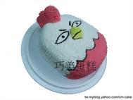 雞貼圖(立體)造型蛋糕