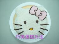 KITTY頭造型蛋糕