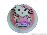 kitty(2D半立體)造型蛋糕