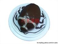 恐怖的小強蟑螂造型蛋糕