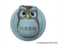 貓頭鷹立體造型蛋糕