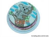 無尾熊母子造型蛋糕