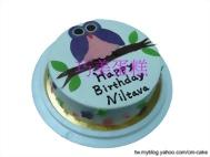 貓頭鷹造型蛋糕