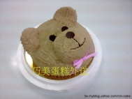 泰迪熊頭部造型蛋糕