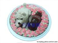 狗與可樂造型蛋糕