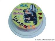 偉士牌摩托車相片蛋糕