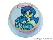 真珠美人魚寶生波音造型蛋糕