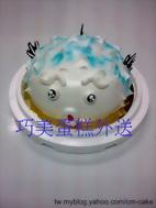 河豚造型氣球蛋糕
