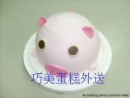 氣球豬造型蛋糕