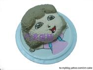 小女孩DORA(頭)造型蛋糕