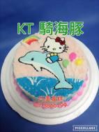 kT 騎海豚
