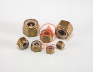 39 螺帽 BRASS NYLON INSERT NUT、DIN985/982、ISO7040
