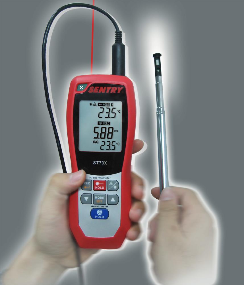熱線式風速計/風速風溫計 ST73X (0.00 ~ 40.00 m/s, -32°C ~ 537°C)