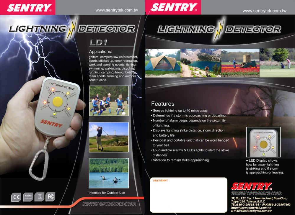 閃電偵測儀/雷電計 SENTRY LD1 (0 km ~  64 km)