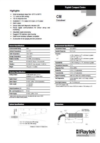 紅外線測溫器 Raytek CM (-20°C ~ 500°C)