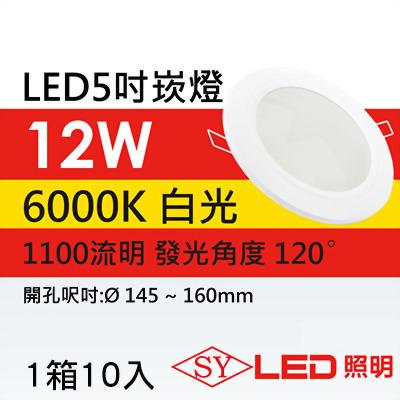 SY LED5吋 薄型崁燈 白光 1箱10入