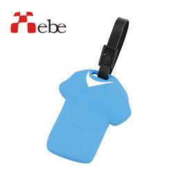 Xebe集比 出國旅行 T恤造型文創設計 行李吊牌(藍色)